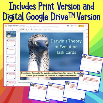 Darwin's Theory of Evolution Task Cards