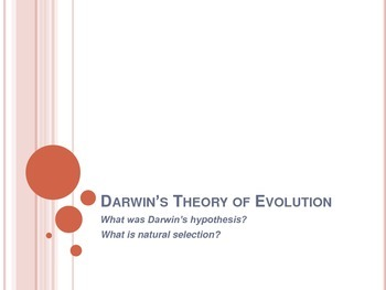 Darwin's Theory of Evolution - Notes - Interactive Notebook