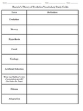 Darwin's Theory of Evolution Vocabulary Study Guide