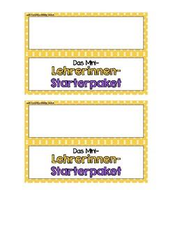 Das Mini-Lehrer(innen)-Starterpaket