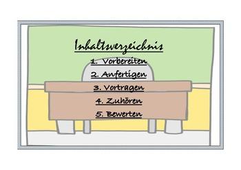 Das Referat (german) - Aspekte eines guten Vortrags - prägnant und übersichtlich