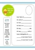 Das bin ich - German / Deutsch - Introducing simple writing activity