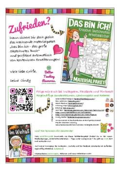 Das bin ich - Vorstellung,Back to school, worksheet, German, all about me