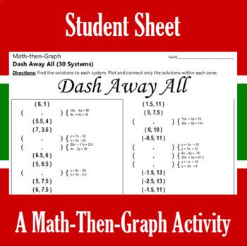 Dash Away All - A Math-Then-Graph Activity - 30 Systems