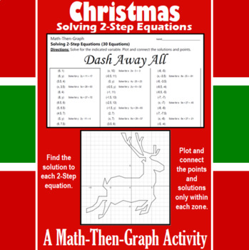 Dash Away All - A Math-Then-Graph Activity - Solve 2-Step Equations