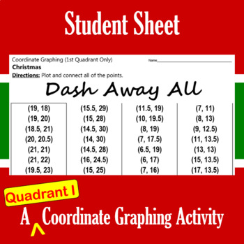 Dash Away All - A Quadrant I Coordinate Graphing Activity