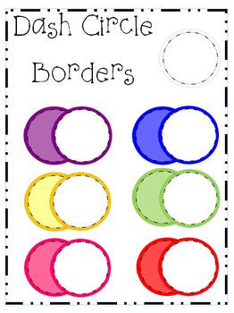 Dash Circle Borders