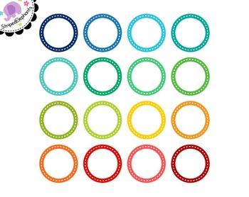 Dash Circle Digital Frames