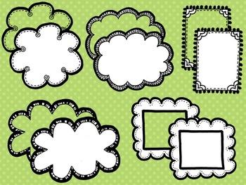 Dash N' Dots Doodles 2 {Borders & Frames}
