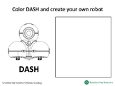 Dash Robot Presentation Coloring Worksheet Preschool - Elementary