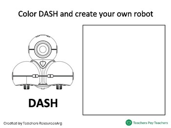 Dash Robot Presentation Coloring Worksheet Preschool