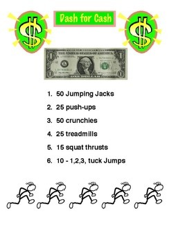Physical Education - Dash for Cash Fitness