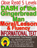 Dash of the Gingerbread Man Morals Lesson Message CLOSE READING 5 LEVEL PASSAGES