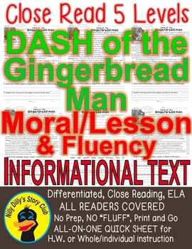 Dash of the Gingerbread Man Morals Lesson Message Close Re
