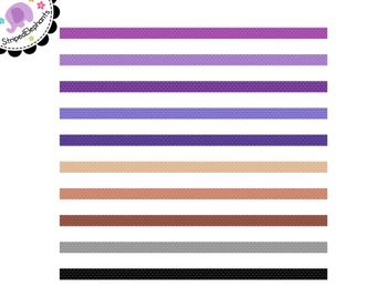 Dashed Digital Ribbon Borders