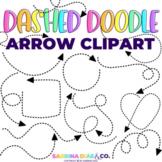 Dashed Doodle Arrow Clipart