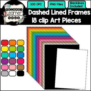 Dashed Lined Frames ClipArt