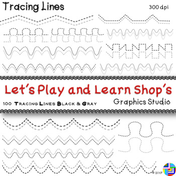 Dashed Tracing Lines for Fine Motor Control Development