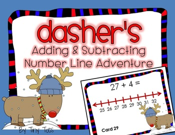 SCOOT Addition & Subtraction Number Line Dasher's Adventure task cards, centers