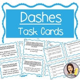 Dashes Task Cards (6th-8th Grade)
