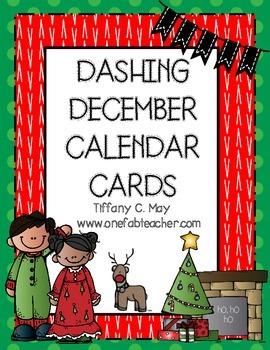 Dashing December Calendar Cards