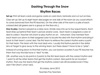 Rhythm Games for Winter - Dashing Through the Snow Rhythm Races Bundle