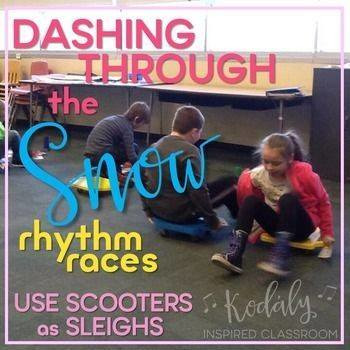 Rhythm Games for Winter - Dashing Through the Snow Rhythm Races Bundle
