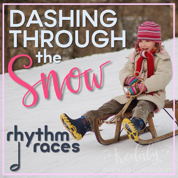 Dashing Through the Snow Rhythm Races: half note