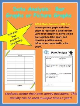 Data Analysis:  Bar Graphs, Picture Graphs, Survey Question