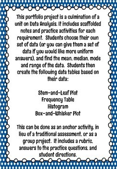 Data Analysis-Box-and-Whisker, Frequency, Histogram, Stem-and-Leaf