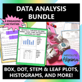 Data Analysis Bundle:  Dot, Box, and Stem & Leaf Plots, Histograms, and More!