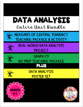 Data Analysis - Entire Unit Bundle ---SAVE!!SAVE!!SAVE!!