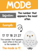 Data Analysis Math Posters mean, median, mode, range Harry Potter Theme
