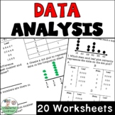 Data Analysis 20 Worksheets No Prep TEKS 4.9A and Topic Titles