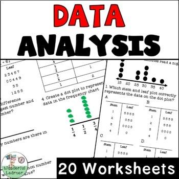 Data Analysis 20 Worksheets No Prep TEKS 4.9A and Topic Titles
