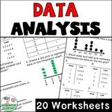 Data Analysis Worksheets No Prep 4th Grade Print and Digital