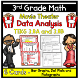 Data Analysis - Movie Theater -TEKS 3.8A and 3.8B