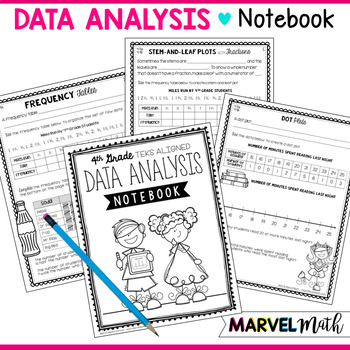 Data Analysis Notebook 4th Grade TEKS by Marvel Math