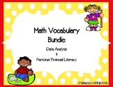 Data Analysis & Personal Financial Literacy Vocabulary Bundle 3rd Grade