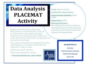 Data Analysis Placemat Activity