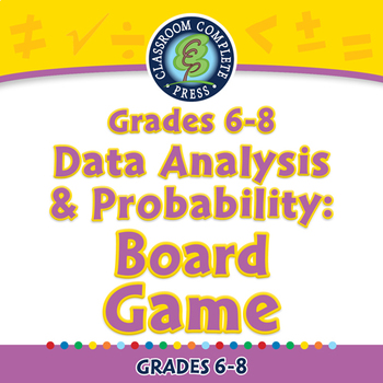 Data Analysis & Probability: Board Game - NOTEBOOK Gr. 6-8