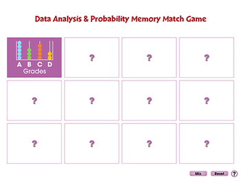 Data Analysis & Probability: Memory Match Game - NOTEBOOK Gr. 3-5