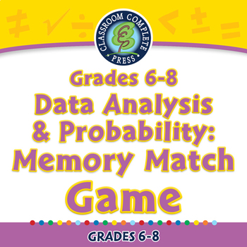 Data Analysis & Probability: Memory Match Game - NOTEBOOK Gr. 6-8