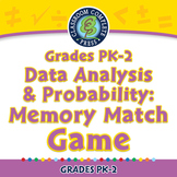 Data Analysis & Probability: Memory Match Game - NOTEBOOK Gr. PK-2