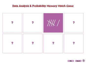 Data Analysis & Probability: Memory Match Game - NOTEBOOK Gr. PK-2