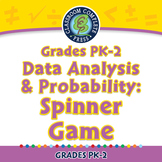 Data Analysis & Probability: Spinner Game - NOTEBOOK Gr. PK-2