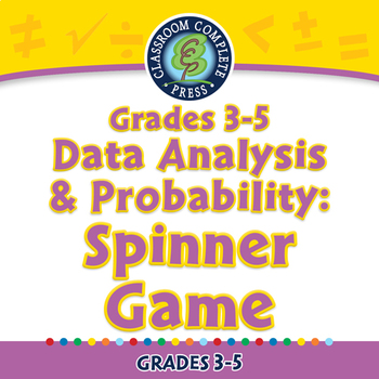 Data Analysis & Probability: Spinner Game - PC Gr. 3-5