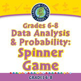 Data Analysis & Probability: Spinner Game - PC Gr. 6-8