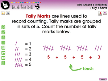 Data Analysis & Probability: Tally Charts - NOTEBOOK Gr. PK-2