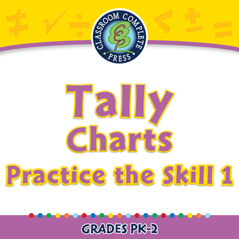 Data Analysis & Probability: Tally Charts Practice the Skill 1 NOTEBOOK Gr. PK-2